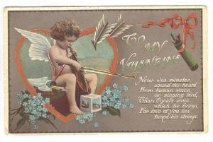 AS: TUCK 152, To My Valentine, Cupid playing violin, 10-20s