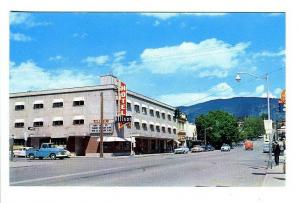 Vernon B. C. Canada Allison Hotel Street View Old Cars Postcard