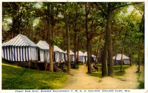College Camp, Wisconsin - Summer Encampment Y.M.C.A. College - in 1930