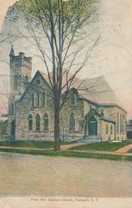 Free Will Baptist Church of Fairport NY, New York - pm 1907 - DB