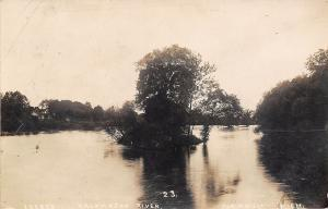 Kalamazoo River MI Islets Whats the Matter With The Weather? RPPC 1914