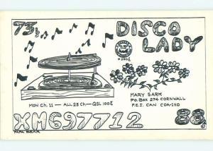 comic - QSL HAM RADIO CARD Cornwall Prince Edward Island PE Canada t1222