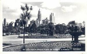 Brazil, Bresil, Brasil Sao Paulo Vista do Parque d Pedro II Real Photo