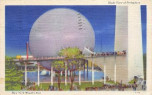New York World's Fair 1940 Exposition Postcard Illumination Of Perisphere