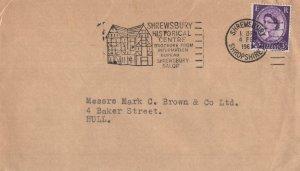 Shrewsbury Shropshire Historical Centre 1965 Slogan Envelope