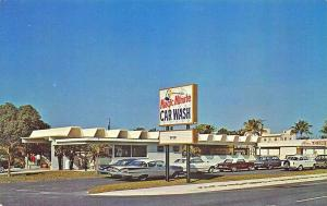 Fort Lauderdale FL Magic Minute Car Wash Old Cars Postcard.