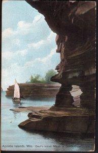 31120) Wisconsin Apostle Islands Devil's Island Mouth of Devil's Cave pm1909 DB