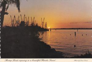 Florida Sunset With Shrimp Boats Fort Myers