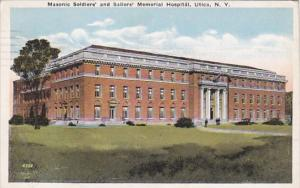 New York Utica Masonic Soldiers' and Sailors' Memorial Hospital 1921