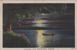 Maine Greetings From Topsfield 1946