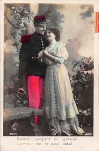 Soldat, sergent ou general, L'amour est le seul ideal lovers 1910