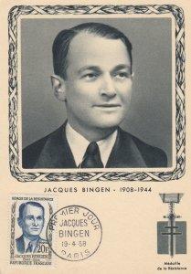 War 1939-45 ; Jacques Bingen