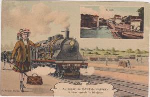 Mont-de-Marsan, Landes department, in Aquitaine,France.00-10s La Calle, La Gare