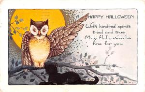 Halloween Post Card Old Vintage Antique Whitney Made 1929