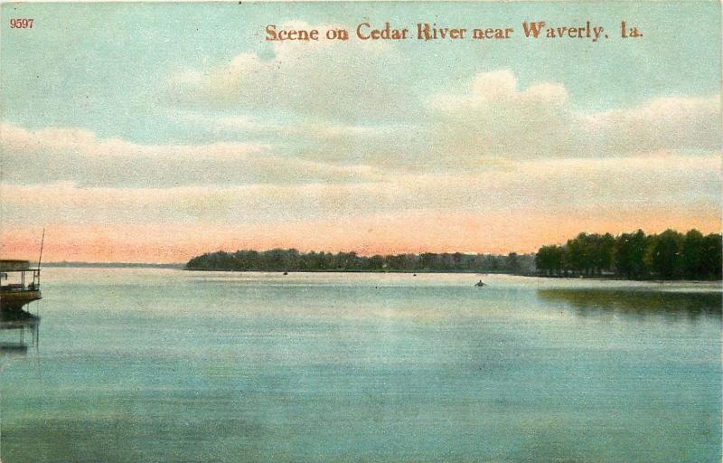 Waverly, Iowa, IA, Scene on Cedar River, Unused Vintage Postcard b5208
