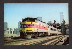 MA Mass MBTA Transit Train Railroad BOSTON Postcard Postcard Massachusetts