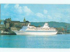Pre-1980 BOAT SCENE Royal Caribbean Cruise Line Ship Boat AF3845@