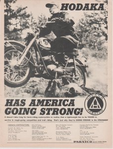 Hodaka Motorcycle 1966 Print Ad, Hodaka Has America Going Strong