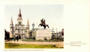 LA - New Orleans. Jackson Square & Cathedral of St Louis (Private Mailing Car...