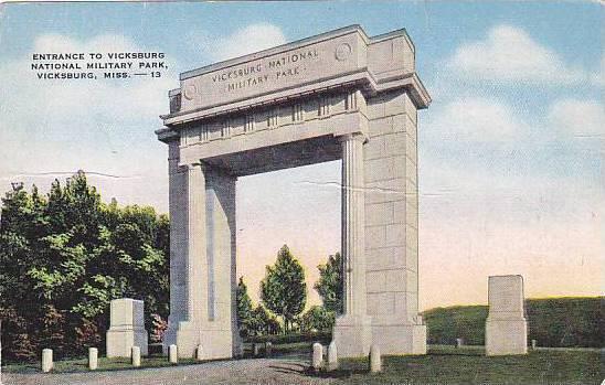 Entrance to Vicksburg National Military Park, Vicksburg, Mississippi, 30-40s