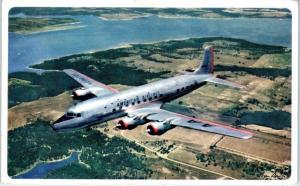 AMERICAN AIRLINES   AIRPLANE   1951   Advertising   Postcard