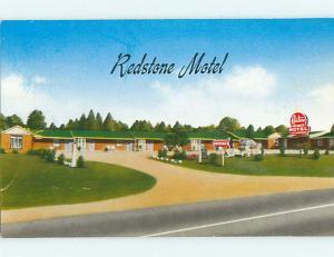 Unused Pre-1980 REDSTONE MOTEL Huntsville Alabama AL u7251-33
