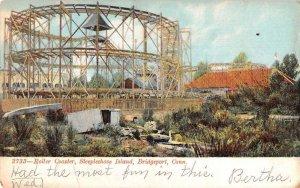 Bridgeport Connecticut Steeplechase Island Roller Coaster Postcard AA16325