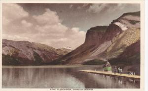 BANFF, Alberta, Canada, 1900-1910´s; General View, Canadian Rockies, Lake Mi...