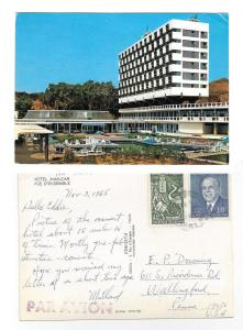 Tunisia Hammamet Hotel Amilcar 1965 4X6 Postcard Sc 354 444