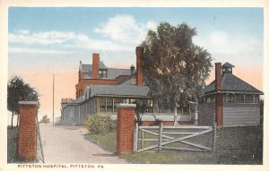 Pittston Pennsylvania~Pittston Hospital~Entrance Gate~1920s Postcard