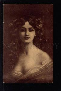 032923 Lady w/ Long Hair STYLE Angelo ASTI vintage