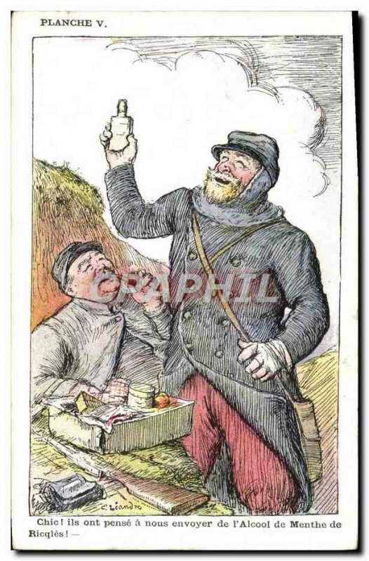 Old Postcard Fantasy Illustrator Leandre Army Soldier Mint Ricqles