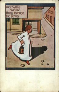 Nursery Rhyme - Wee Willie Winkie - Will Kidd c1910 Postcard #1