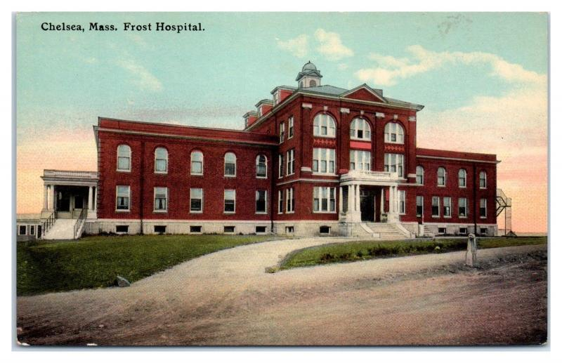 Early 1900s Frost Hospital, Chelsea, MA Postcard