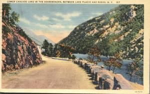 Lower Cascade Lake, Adirondacks, New York - pm 1949 - Linen