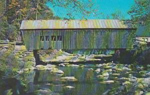 Covered Bridge An Old Covered Known As The Mill Bridge Tunbridge Vermont