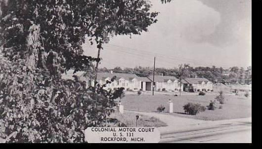 Michigan Rockford The Colonial Motor Courts Dexter Press Archives