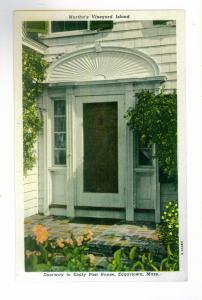 Martha's Vineyard, Emily Post House, Edgartown, Massachusetts unused Curteich PC