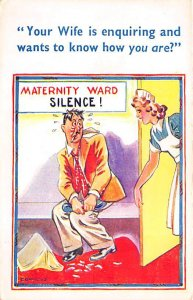 Man Waiting in the Maternity Ward Cartoon Occupation, Doctor Unused