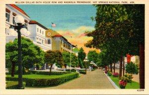 Arkansas Hot Springs Million Dollar Bath House Row and Magnolia Promenade