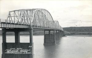 Chamberlain South Dakota~Two Way Four Lane Bridge over Missouri River 1956 Photo