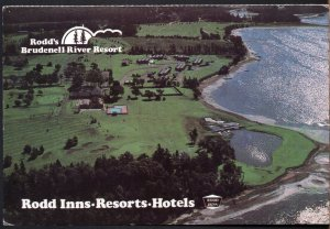 PEI Aerial View of Rodd's Brudenell River Resort Hotels - Inns - pm1986 - Chrome