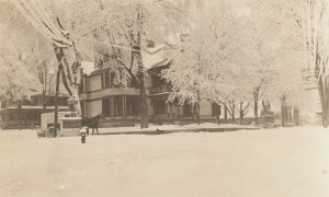 RP: HINSDALE , New Hampshire , 1900-10s ; Main Street in winter