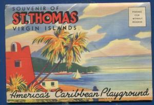 St Thomas Virgin Islands Caribbean souvenir postcard folder #3