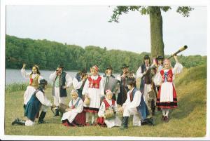 Poland, FOLKLOR KASZUBSKI, Zespol Piesni i Tanca Kaszuby z Kartuz, Postcard