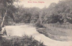 KINGTON , Herefordshire , England , 1908 ; River Scene