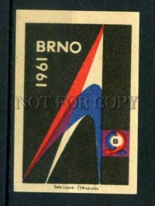 500791 Czechoslovakia 1961 year BRNO Vintage match label