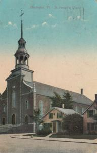 BURLINGTON, Vermont, PU-1911 ; St. Joseph's Church
