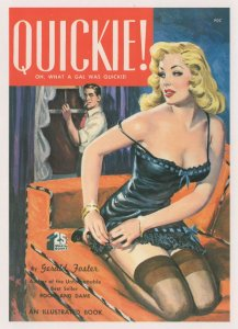 Quickie Sexy Hooker 1950s Prostitute Risque Story Book Postcard