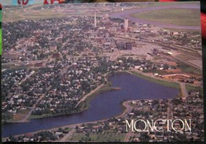 Canada Moncton Aerial View - posted 1988